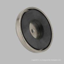 Керамический магнит с круглым основанием Ферритовый горшок с магнитом
