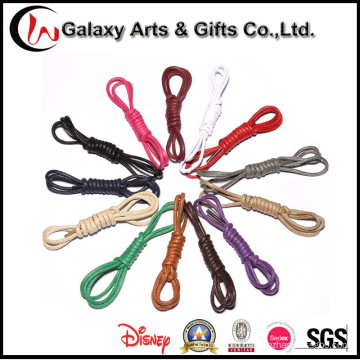 3mm Colored Wateroof Polyester Round Rope Waxed Shoelaces