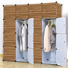 Gabinetes plegables plásticos de DIY del diseño de la madera de Brown para el hogar (ZH003-1)