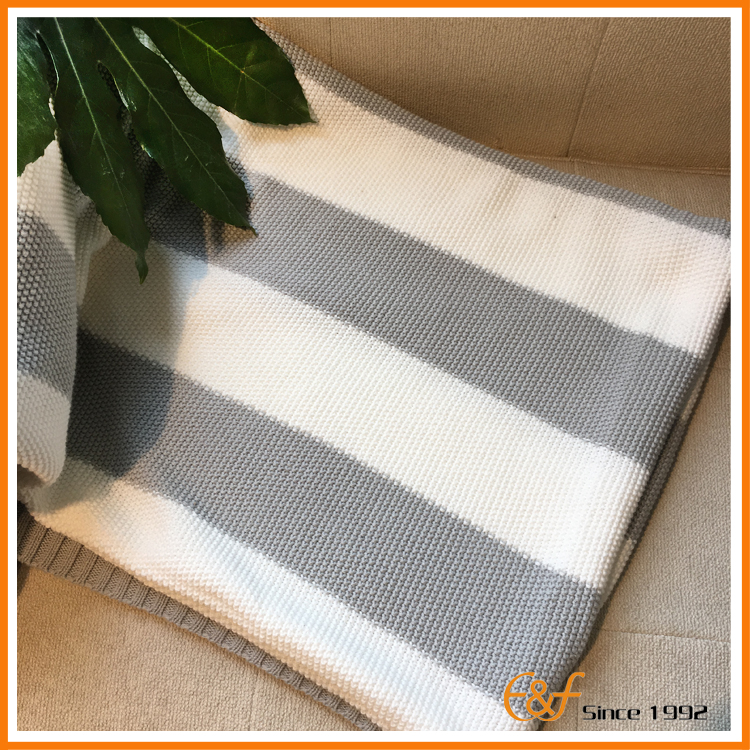 Cotton knitted baby blankets