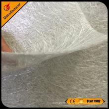 Aislamiento fibra de vidrio troceado filamento E-Glass mat 450g por metro cuadrado