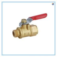 Válvula de esfera de bronze mini gás com cabo de aço