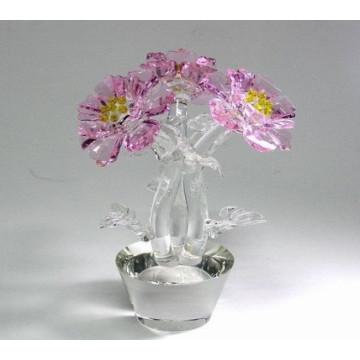 Flor cristalina del favor de la boda cristalina para la decoración o los regalos
