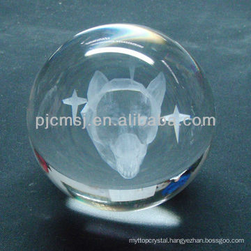 Crystal Ball with 3D Laser Engraving