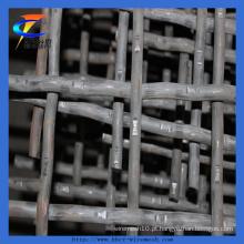 Malha de tela de vibração / malha de arame frisado para a mineração (fábrica)