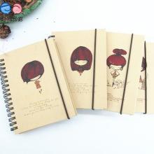 Elastic Band Eco Friendly Reciclado Kfraft Paper Pocket Coil Notebook