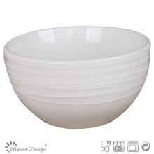 Simply Design White Porcelain Embossed Bowl