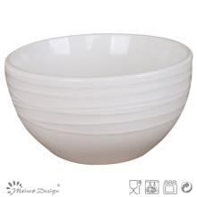 Bol en relief en porcelaine blanche Simply Design