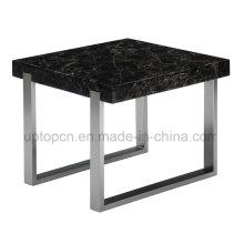 Moderne Black Square Marmor Restaurant Tisch für Cafe (SP-GT439)