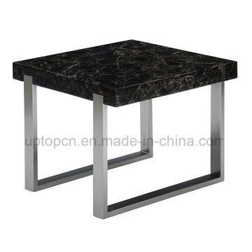 Modern Black Square Marble Restaurant Table For Cafe (SP GT439)