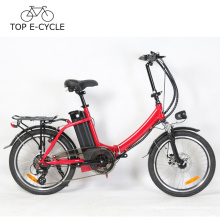 Bicicleta plegable E Bicicleta eléctrica de 20 pulgadas Bicicleta potente Motor eléctrico de 300 W China