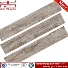 china manufacturer rustic porcelain look wooden tile for store construction