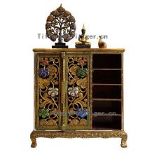 luxury furniture wooden furniture designs Thailand Antique Style Corner Shoes Cabinet