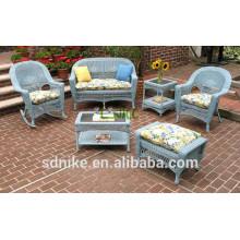 2014 big promotion PE rattan kids table chair