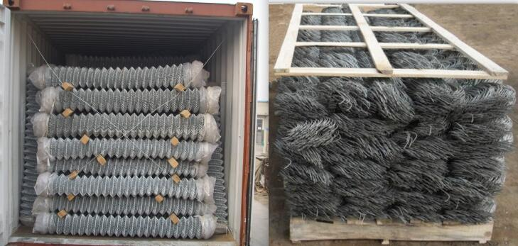 chain link mesh loading