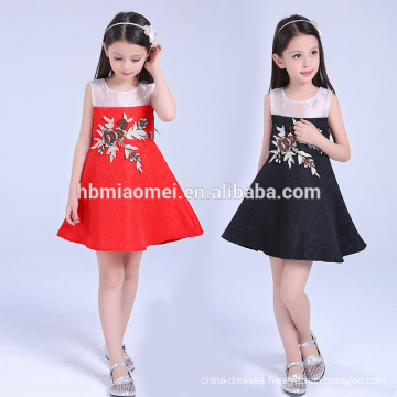 2017 Children frock designs wholesale children clothing dress in stock items girl dress for princess wedding