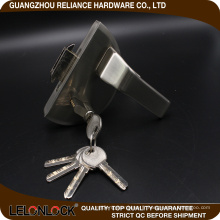 Unique design vente chaude type alliage de zinc verre serrure de porte levier exportation chaude en europe