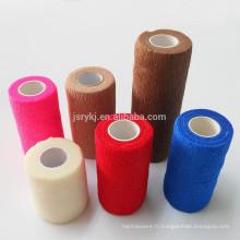 Différentes couleurs médicales non-tissées à usage professionnel crêpes bandes élastiques bandage