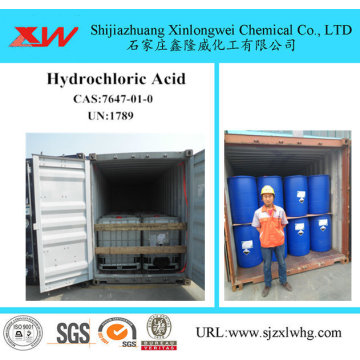 Acide muriatique HCL 31% 33% 36% 37%