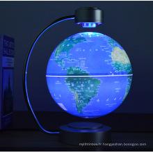 Globe terrestre magnétique flottant et rotatif de table