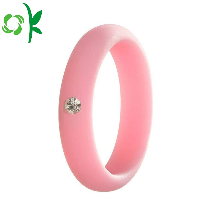 pink silicone ring with daimond