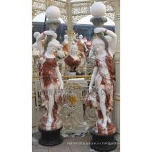 Статуя статуи из резного камня скульптуры с мраморным песчаником (SY-C1196)