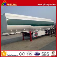 3 essieux 45000liters Type Gooseneck Fuel Oil Tanker Semi-remorque