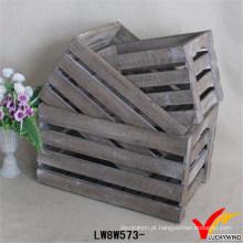 Caixote de madeira de reciclagem