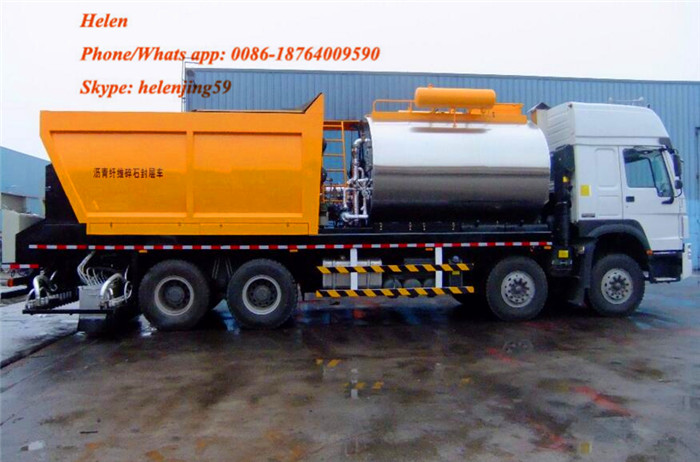 شاحنة السفلتة HOWO 6x4 336HP Asphalt Chip Sealer