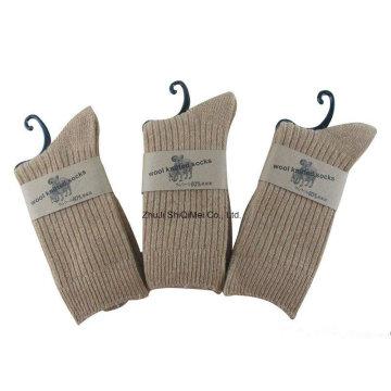 Fornecedor da fábrica personalizado meias de lã quente de mulheres homens