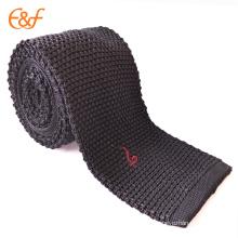 Menswear gros tricoté cravates noires cravate pas cher prêt cravate