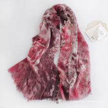 Женщин моды Цветочный печать вискоза шарф (YKY1126)