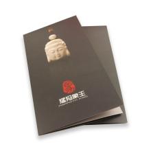 Impressão de folheto personalizado com laminação lustrosa de alta qualidade