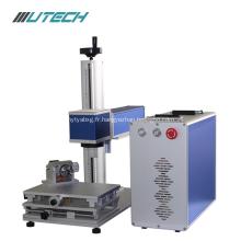 machine d'inscription de laser de fibre de stylo en acier en métal
