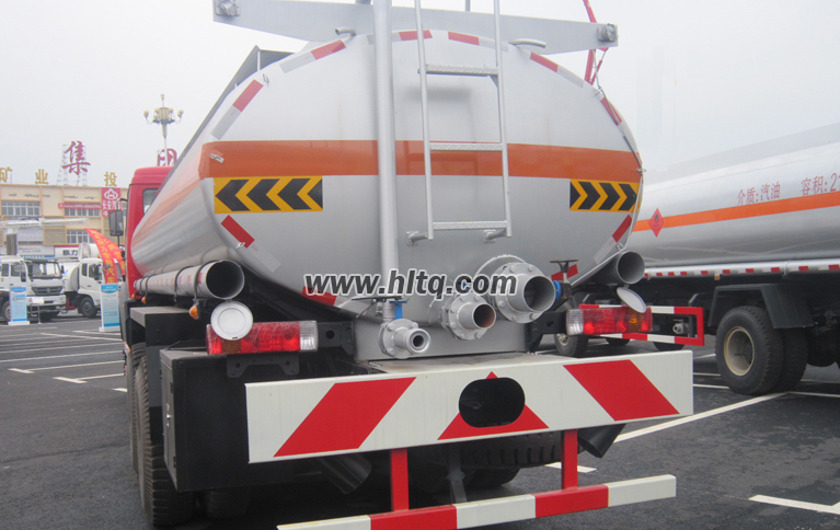 Back of Fuel Tanker Truck