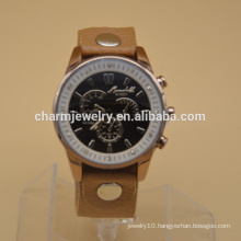 Lastest Design New Product Watch Stainless Steel Watch PU Leather Watch WL008