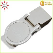Kundenspezifisches Design Metall und Leder Geld Clip