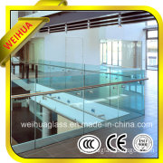 4mm-19mm Safety Clear Cheap Glass Fence with CE/CCC/ISO9001