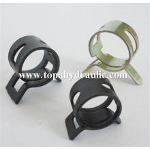 Black steel spring hose clamps