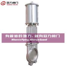 Válvula de la puerta del cuchillo del acero inoxidable para la industria del tratamiento de agua