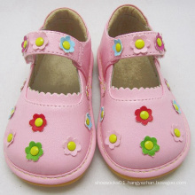 Pink Squeaky Shoes with Small Flowers