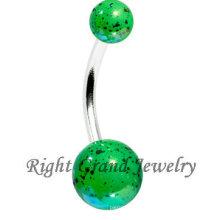 Fashion Green UV Acrylic Ball Splatter Sexy Beach Body Jewelry