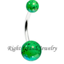 Мода зеленый акриловые УФ мяч брызги сексуальный пляж тело ювелирные изделия