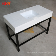 Fabricated Artificial stone top vanity integrated double sink