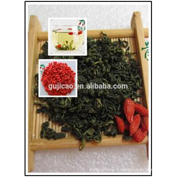 Thé de feuilles de Goji séchées, Feuilles de nèfle, Wolfberry folium, Folia de Barbarie