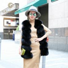 Оптовая Китай поставщиком реального Фокс меховой жилет женщины