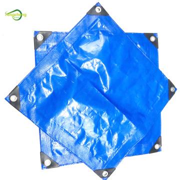 Lona de PE impermeable azul de película reforzada tejida 150g