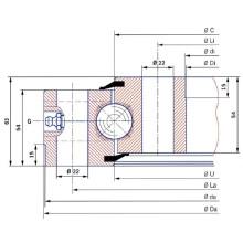 Torriani Non-Gear Rolamento de balanço de bola de contato de quatro pontos SD. 955,25.00. B
