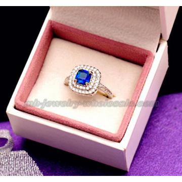 Мода стекла камня Gemstone обручальные кольца