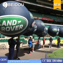 Ballons à grande publicité Ballons à l'eau de cheminée en PVC Ballon gonflable à dos